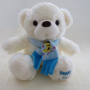 URSO HAPPY cachecol azul