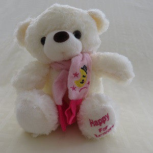 URSO HAPPY cachecol rosa